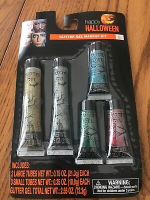 Halloween Glitter Gel Makeup Kit With 5 Colors #781124 Ships N 24h