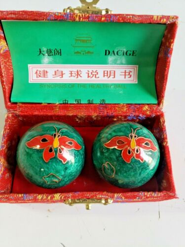 Green Chinese meditation Balls SYNOPSIS OF THE HEALTHY  BALL CHINA/ BEIJING