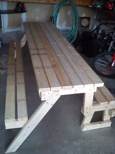 Picnic table turns to bench
