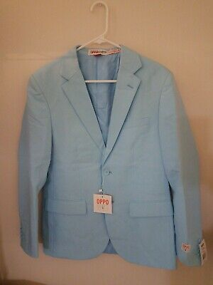 Oppo Suits Light Blue Mens Suit Jacket - US and UK Size 38 - EU Size 48  - Oppo Suit
