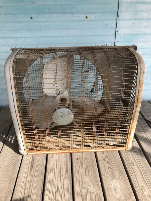 Vtg Homart (Sears) Cooler Attic Large Industrial Metal Exhaust Fan. Working
