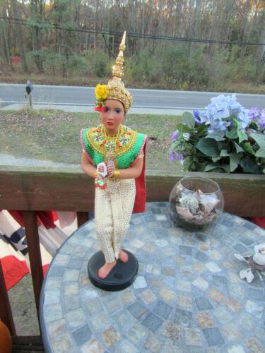 """Vintage Thai 16"""" statue/ dancing Fawn Thai Khon Lakhon doll"""