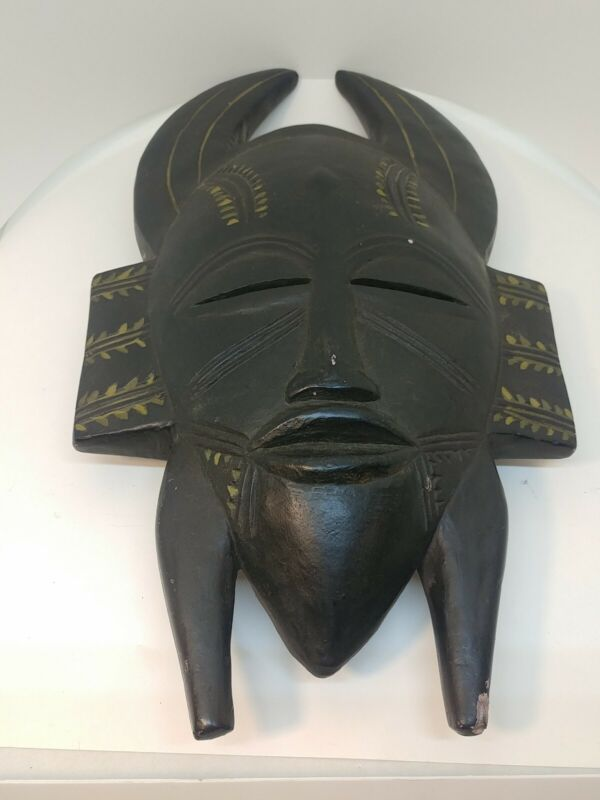 African Horned Mask Ivory Coast Replica By Alva from Museum of Natural History
