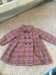 Old Navy 12-18 month pea coat plaid jacket