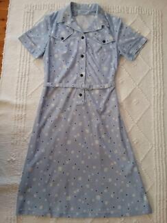 Blue Shirtmaker dress. Size 10.