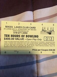 Bowling cards