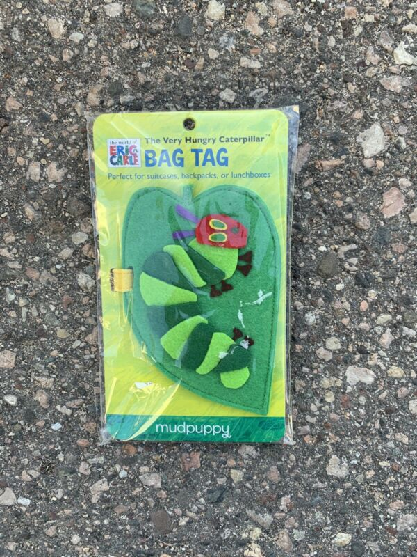 The Very Hungry Caterpillar Felt Bag Tag by Mudpuppy In Original Packaging