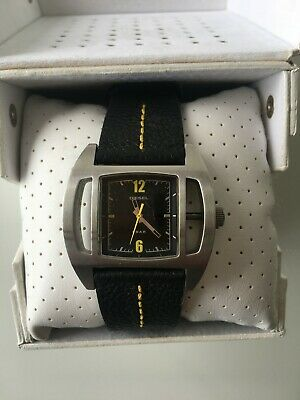 Vintage Diesel Watch DZ 2112  Black Leather BOX - New Condition