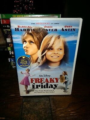 Freaky Friday DVD Jodie Foster Barbara Harris film RATED G DISNEY MOVIE family