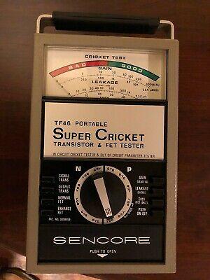 Sencore Tf46 Portable Super Cricket Transistor Fet Tester Excellent Condition