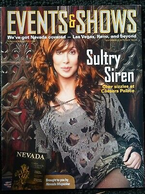 NEW SEPT/OCT 2008 EVENTS & SHOWS MAGAZINE CHER COVER & ARTICLE CAESARS VEGAS