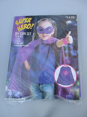 Purple Super Hero DIY Cape Set