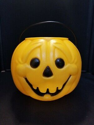 General Foam Halloween Jack O Lantern Pumpkin Blow Mold Trick Or Treat Pail #2