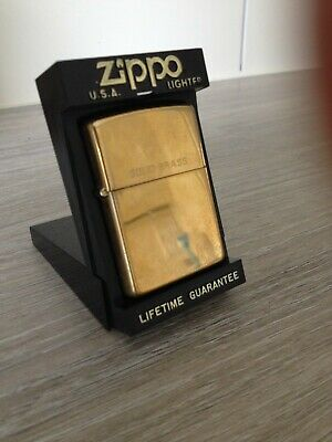Zippo Lighter Solid Brass USA windproof.