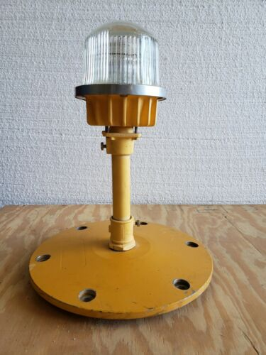 Rare Double Globe Taxiway Lamp Airport Runway Light Plane Helicopter Mancave #03