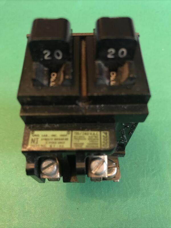 Pushmatic 20/20 AMP Duplex Single Pole P2020(load tested)