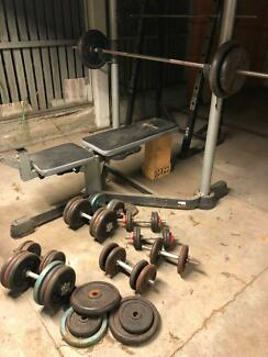 200kg + high quality gym set up