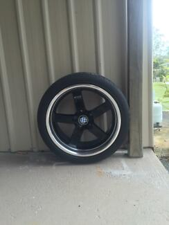 "18"" 18 inch black and chrome rims Morayfield Caboolture Area Preview"