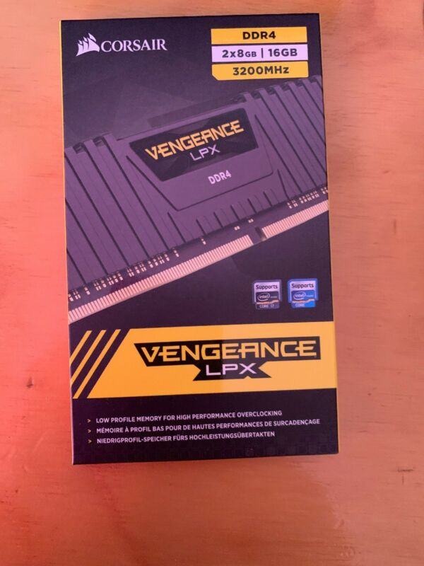 Corsair Vengeance LPX 2-Pack 8GB DDR4 DRAM Desktop Memory Kit Black CMK16GX4M2B3200C16