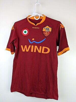 Vintage 2007/2008 AS Roma Soccer Jersey Kappa Philipe Mexes SIGNED? Sz S-M 13815 image