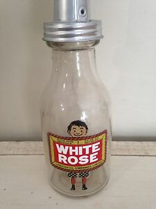 Antique imperial quart glass oil bottle, motor oil tin can gas