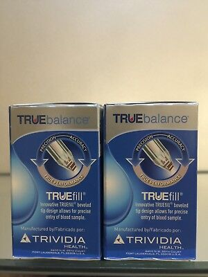True Balance Blood Glucose 100 Test Strips Exp 05 2020  Diabetic  Free Shipping