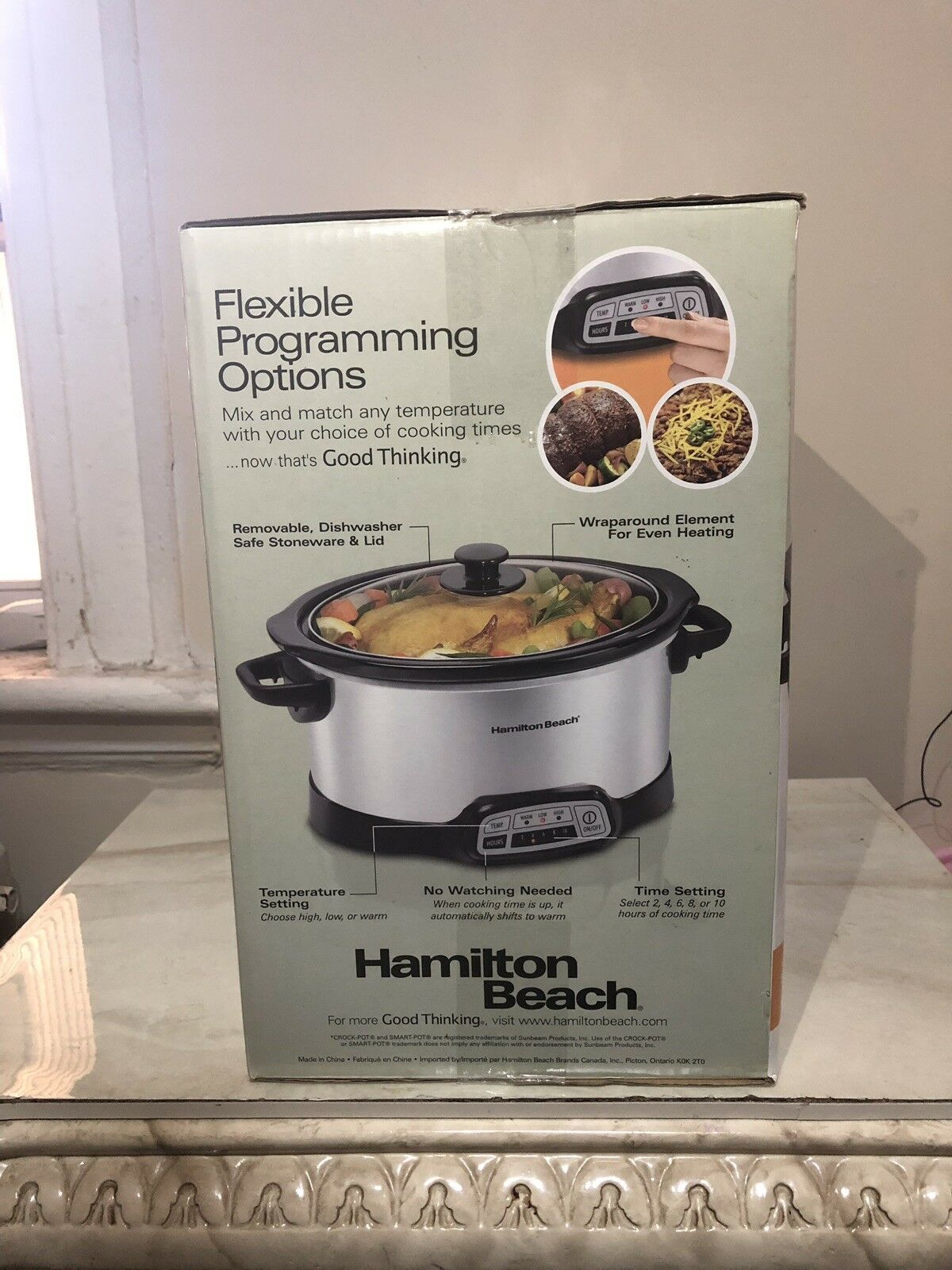 Slow Cooker Hamilton Beach 5-Quart Programmable Stay or Go S