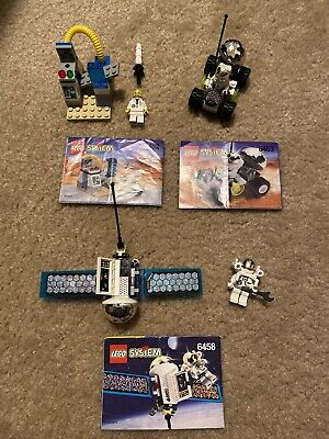 3 Vintage 1999 LEGO Space Port sets 6452, 6458 & 6463 w/ Minifigs & Instructions