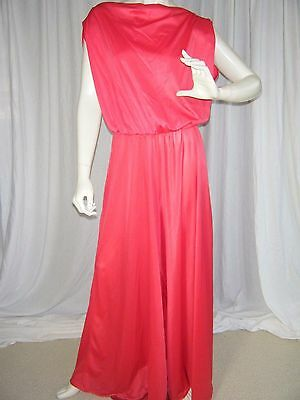 vtg 70s CATTANI red womens vintage jumpsuit Palazzo pant wide leg backless sz XL