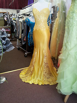 Jovani Yellow Prom Formal Evening Special Occasion Dance Dress .Size 8.
