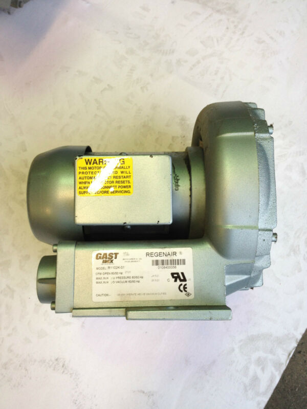 Gast MFG AC Induction Motor R1102K-01 REFURBISHED & TESTED