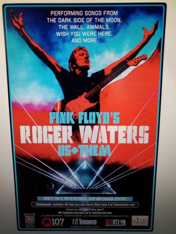 Roger Waters Toronto Tour Poster