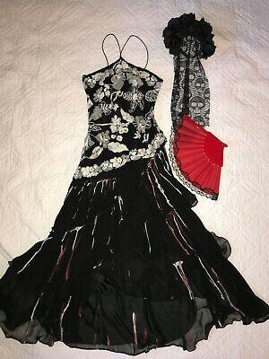 Day of the Dead Spanish bride wedding dress COSTUME gothic unique OOAK size M