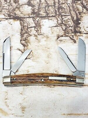 Vintage Solingen Germany Hoffritz Stag Bar Shield Congress Pocket Knife