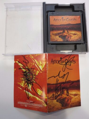 Alice In Chains Signed Mini Disc By All 4 Members Coa + Proof! Rare Autographed