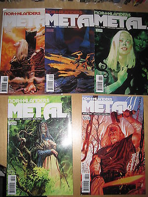 "NORTHLANDERS 30,31,32,33,34, ""METAL"" : COMPLETE 5 ISSUE STORY. DC VERTIGO. 2010"