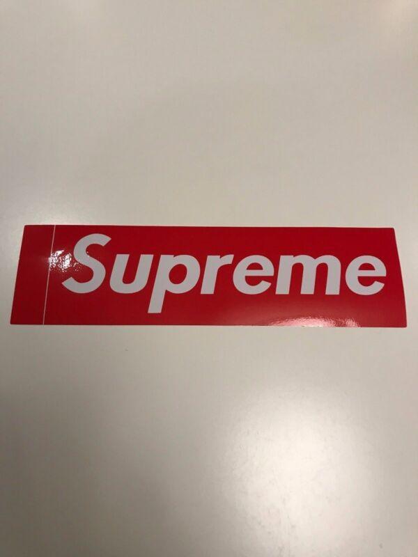 Supreme Box Logo Red Sticker Vinyl Decal Skateboard Original NYC Bumper Laptop