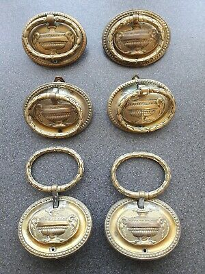 lovely set of Regency period brass Neo classical style brass furniture handles