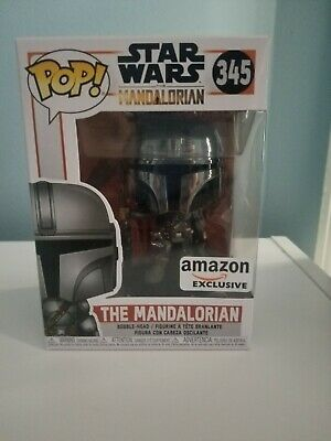 IN-HAND *SOLD OUT* Chrome Mandalorian Funko Pop (Amazon Exclusive)