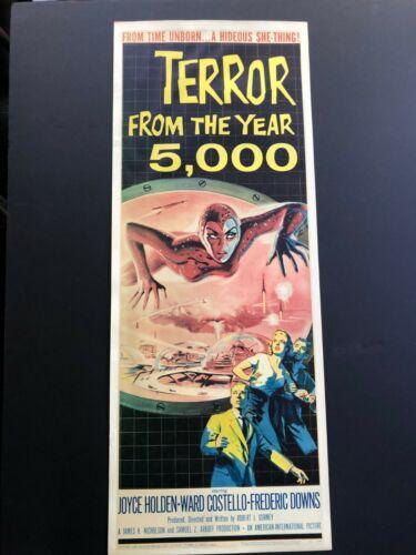 TERROR FROM THE YEAR 5000, rolled insert, Albert Kallis art, AIP Science Fiction