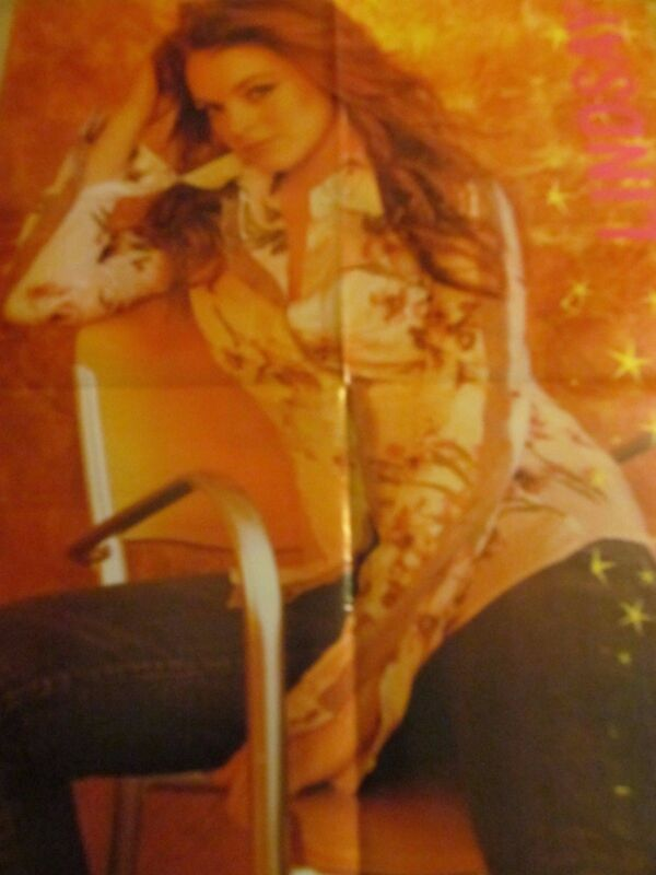 Lindsay Lohan, Adam Brody, Double Four Page Foldout Poster