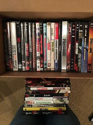 Lot of 32 Empty DVD Movie Cases & Cover Art Sleeves & Inserts NO DISCS ()