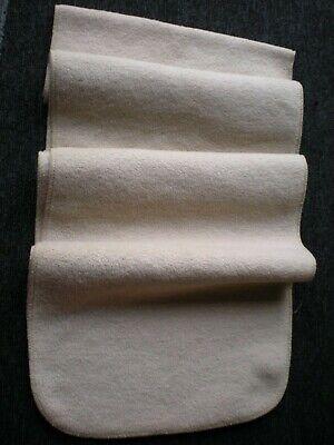 Classic Men's Beige Soft Feel Polar Fleece Wrap Over Scarf Excellent Condition