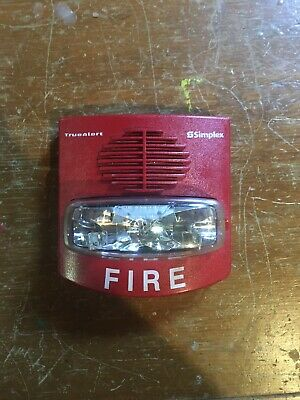 Simplex Fire Alarm Horn Strobe Model 4906-9127 Red Smartsync Multi-candela