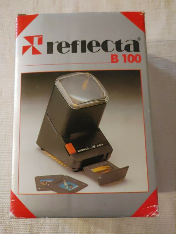 Reflecta B100 Slide Negative Strip Viewer AC Power, Works, 2.5x Magnification