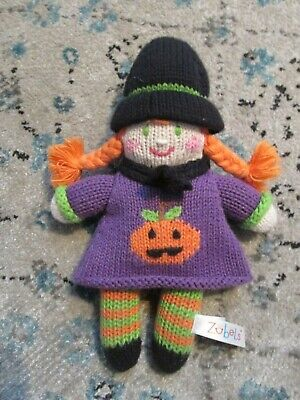 Halloween Toys For Babies (E1 Zubels Crocheted/Knit Infant Halloween Girl Pumpkin sweater Toy That)