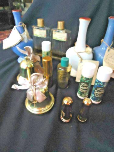 "14 1950S OSS PERFUMES INCL ""PARIS"" PERFUME BOTTLES, LIPSTICKS -COTY,MAX FACTOR"