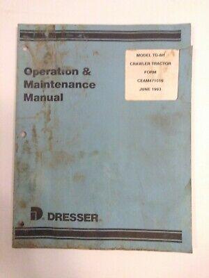 Dresser Model Td-8h Crawler Tractor Operation Maintenance Manual