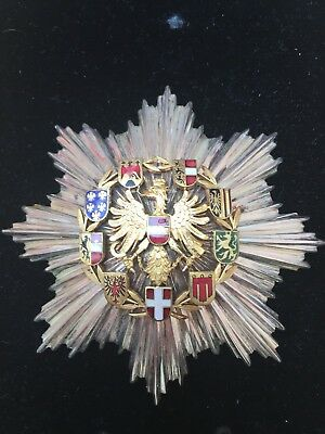 Austria Second Republic. Order Of Merit Breast Star 98mm