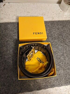Fendi Belt Coffee 110 MAYBE NOT REAL? SEE PICS